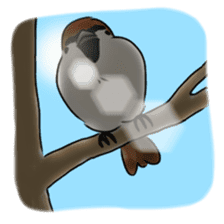 Daily life of a Sparrow sticker #12520884