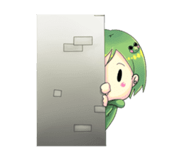 A little cat girl and the frog gamer sticker #12522340
