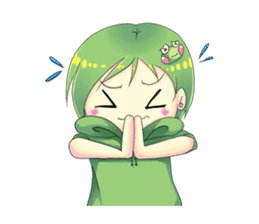 A little cat girl and the frog gamer sticker #12522353