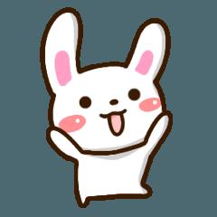 Mischievous cute rabbit