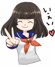 High-school girl, Yabami-chan sticker #12526651