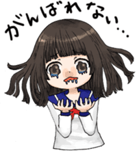 High-school girl, Yabami-chan sticker #12526657