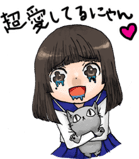 High-school girl, Yabami-chan sticker #12526669
