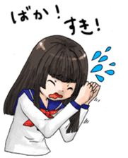 High-school girl, Yabami-chan sticker #12526677
