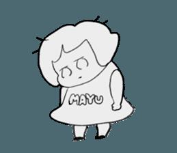 mayu`s name sticker #12541349