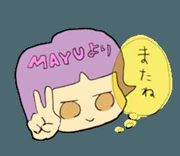 mayu`s name sticker #12541354