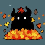 สติ๊กเกอร์ไลน์ Hoshikui Autumn