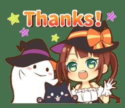 Halloween witch sticker #12543820