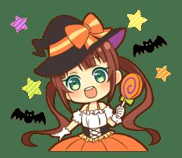 Halloween witch sticker #12543822