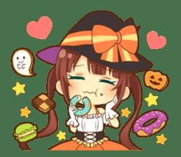 Halloween witch sticker #12543823