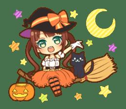 Halloween witch sticker #12543825
