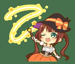 Halloween witch sticker #12543828
