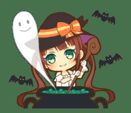 Halloween witch sticker #12543829
