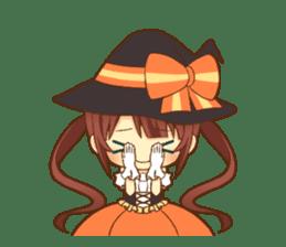 Halloween witch sticker #12543830
