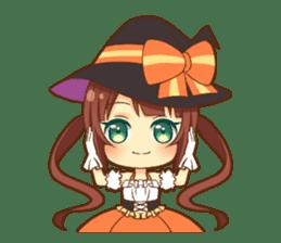 Halloween witch sticker #12543832