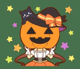 Halloween witch sticker #12543833