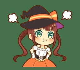 Halloween witch sticker #12543835