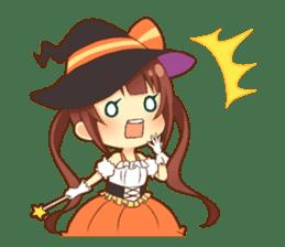 Halloween witch sticker #12543837