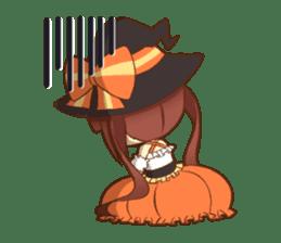 Halloween witch sticker #12543839