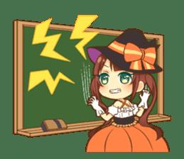 Halloween witch sticker #12543840