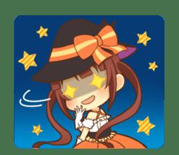 Halloween witch sticker #12543843