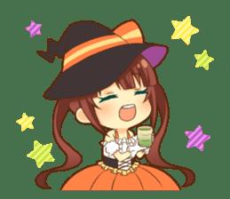 Halloween witch sticker #12543844