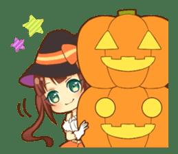 Halloween witch sticker #12543845