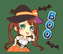 Halloween witch sticker #12543849