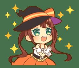 Halloween witch sticker #12543850