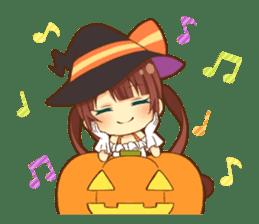 Halloween witch sticker #12543851