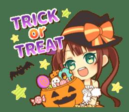 Halloween witch sticker #12543852