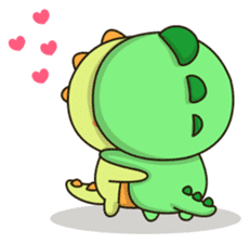 Kawaii Dino and friend sticker #12548871