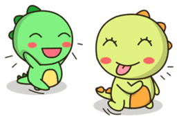 Kawaii Dino and friend sticker #12548872