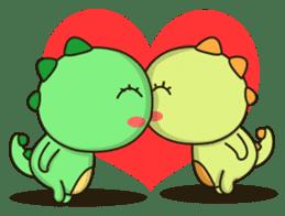 Kawaii Dino and friend sticker #12548904