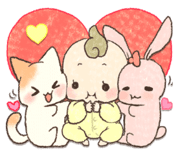 MOCHI-BABY and Merry Frands . sticker #12550476