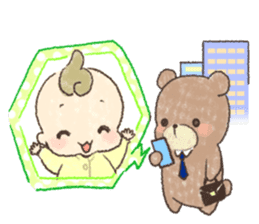 MOCHI-BABY and Merry Frands . sticker #12550480