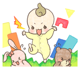 MOCHI-BABY and Merry Frands . sticker #12550486