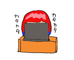 The female of the red hair which moves sticker #12552607