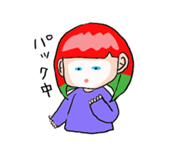 The female of the red hair which moves sticker #12552621