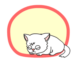 my cat Knee sticker #12552902