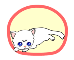 my cat Knee sticker #12552906