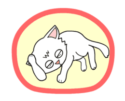 my cat Knee sticker #12552907