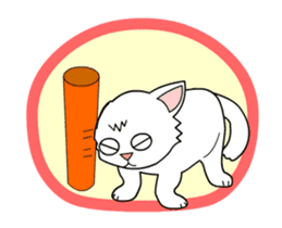 my cat Knee sticker #12552909