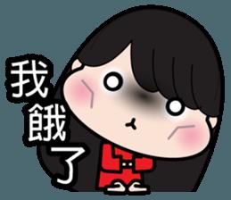 Girl in red dress sticker #12553432