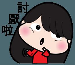 Girl in red dress sticker #12553438