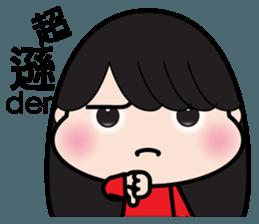 Girl in red dress sticker #12553439
