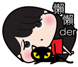 Girl in red dress sticker #12553441