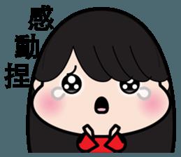 Girl in red dress sticker #12553449