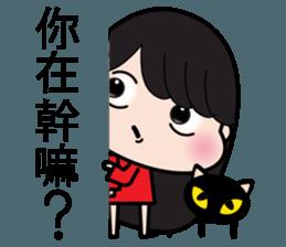 Girl in red dress sticker #12553453