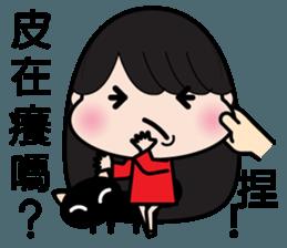 Girl in red dress sticker #12553461